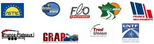 Les membres de l'Alliance Professionnelle du Transport Routier
