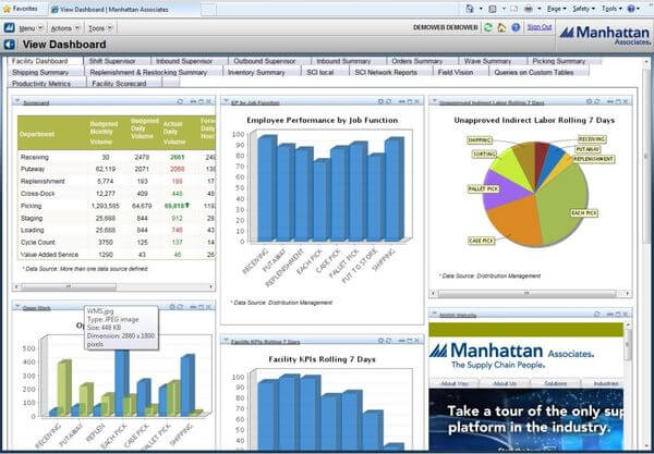 Manhattan Associates - View Dashboard